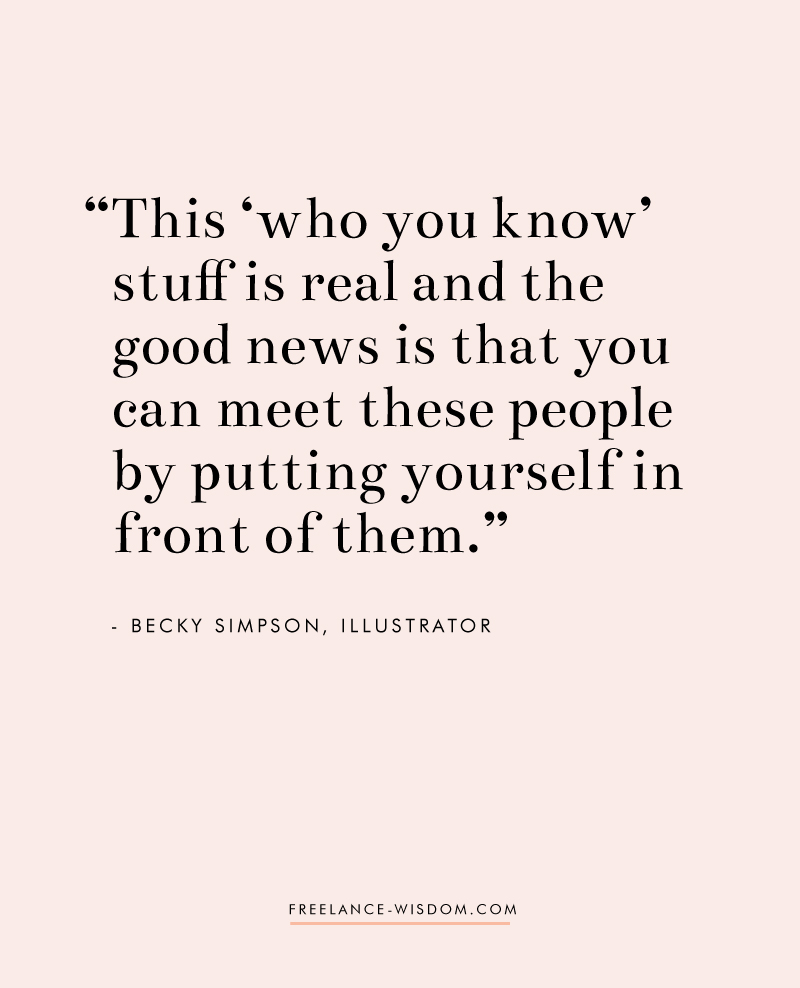 Becky Simpson   Put Yourself Out There   Freelance Wisdom