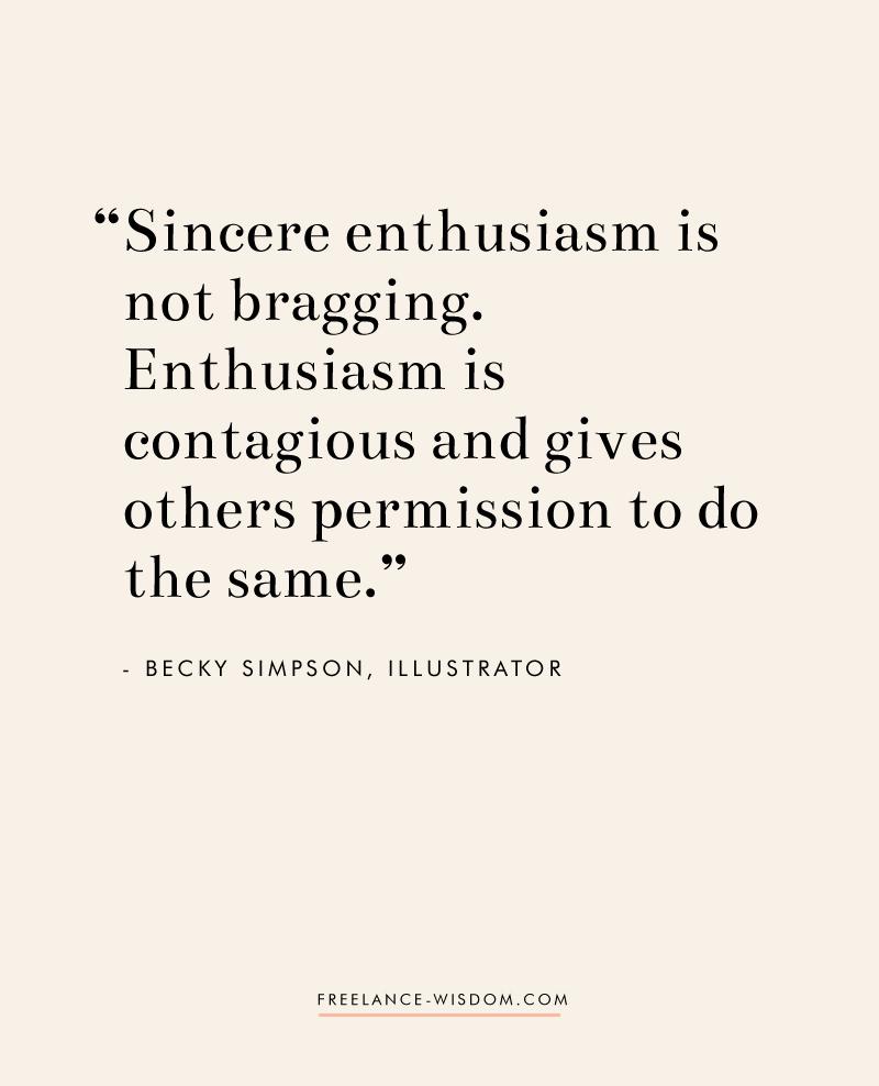 Becky Simpson   Sincere Enthusiasm   Freelance Wisdom