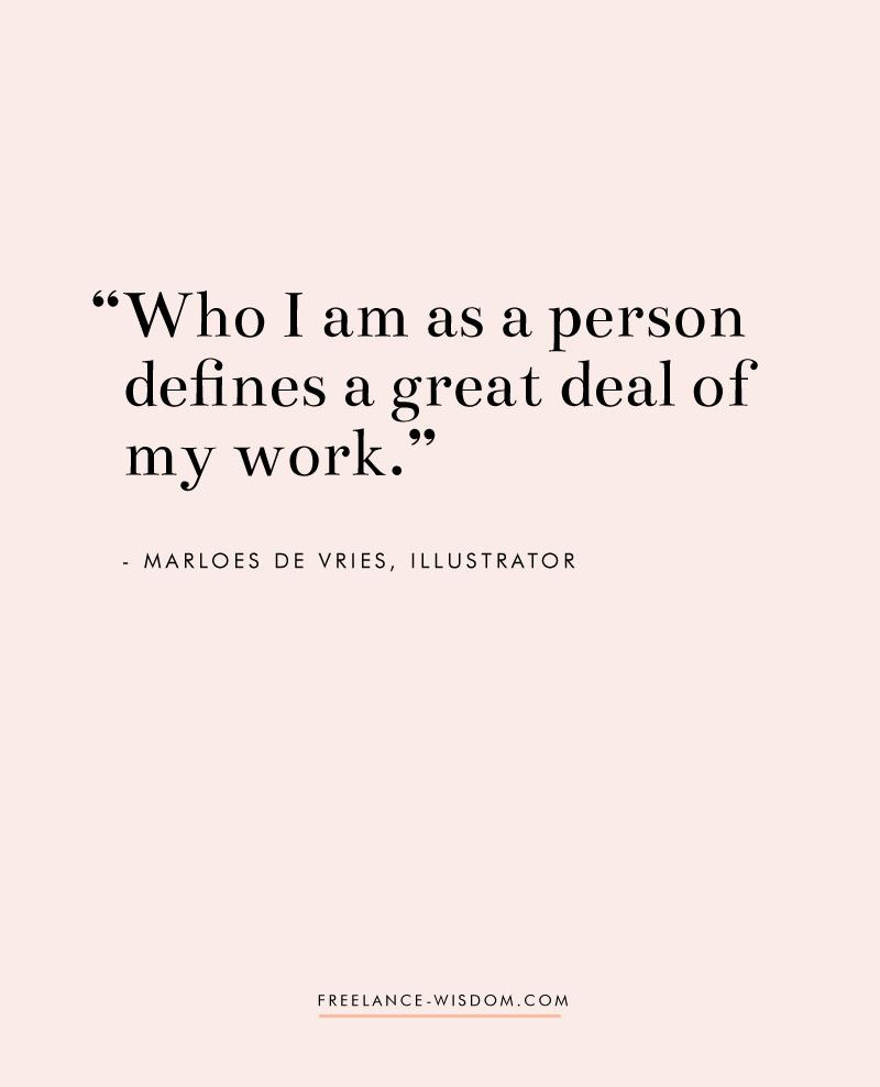 Marloes De Vries | Being true to herself | Freelance Wisdom