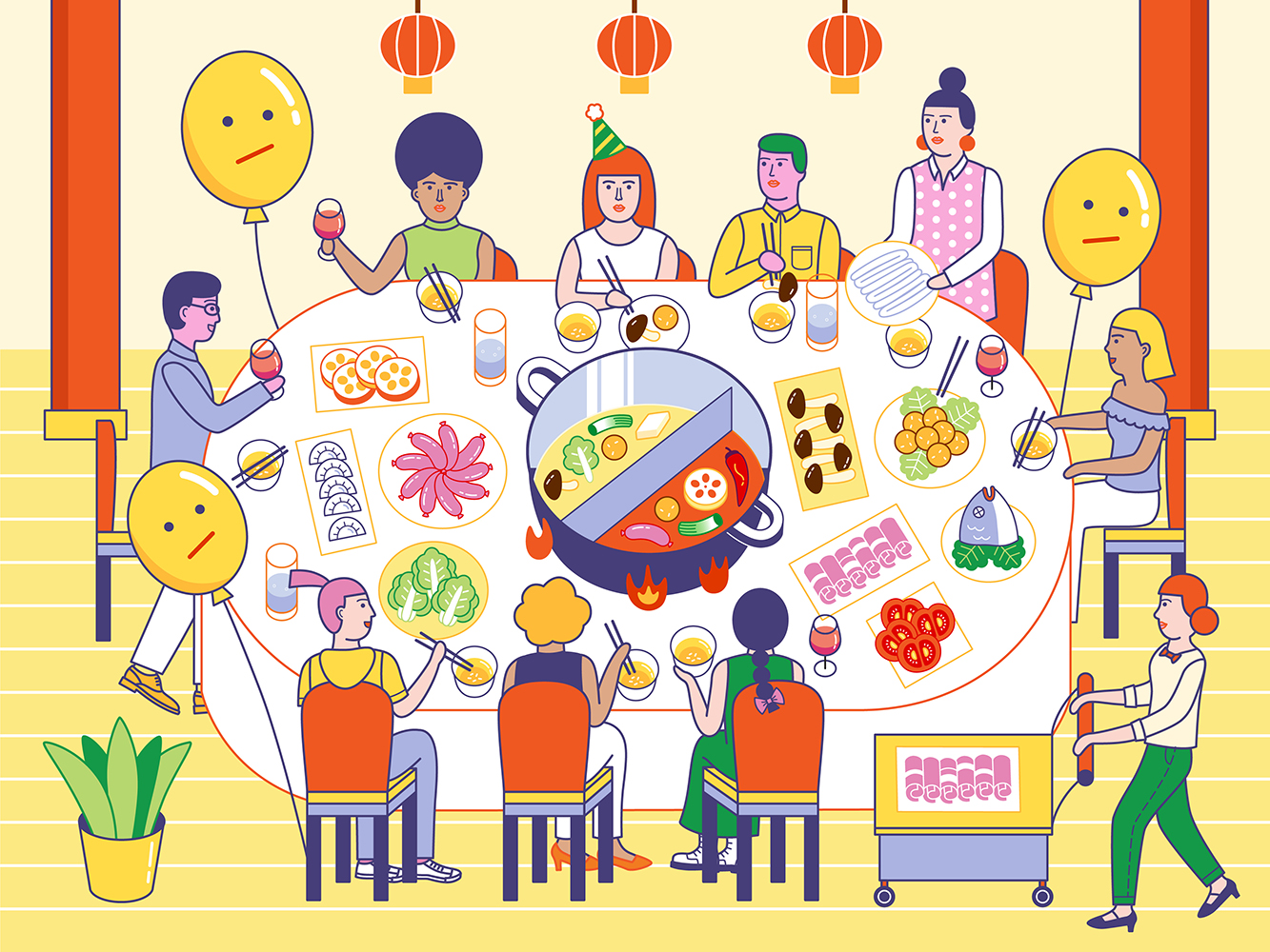 Dingding Hu | Hotpot Party | Freelance Wisdom