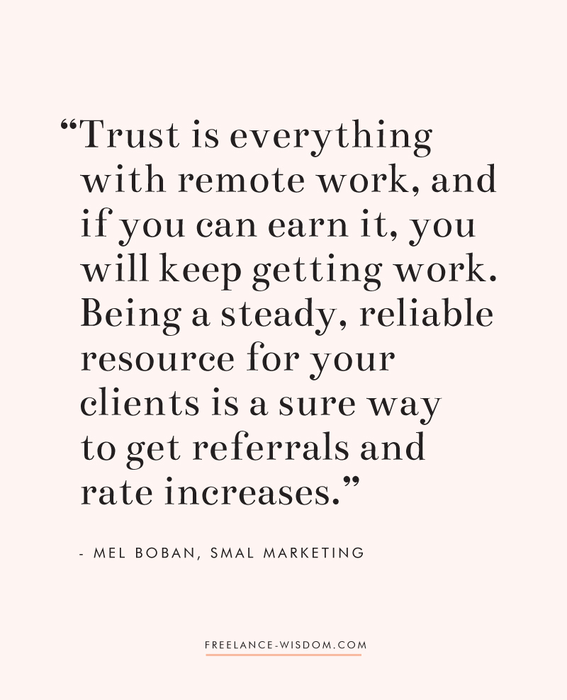 Mel Boban | Trust and Remote Work | Freelance Wisdom