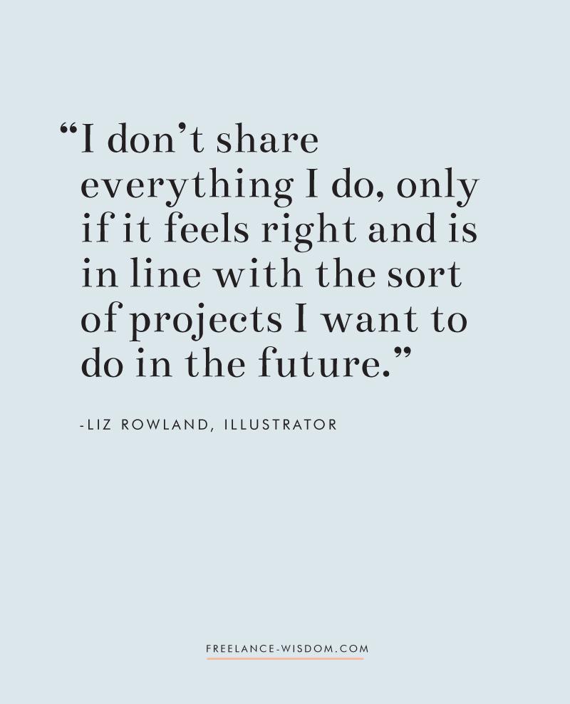 Liz Rowland | on her portfolio | Freelance Wisdom