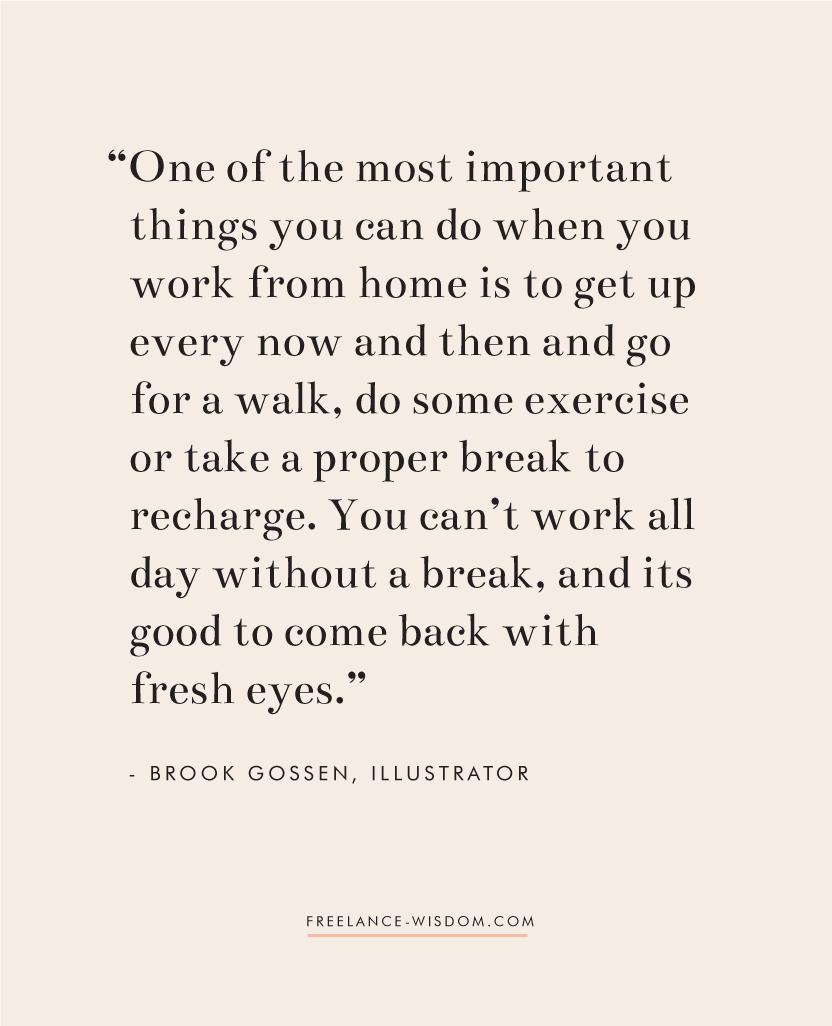 Brook Gossen   Working from home   Freelance Wisdom