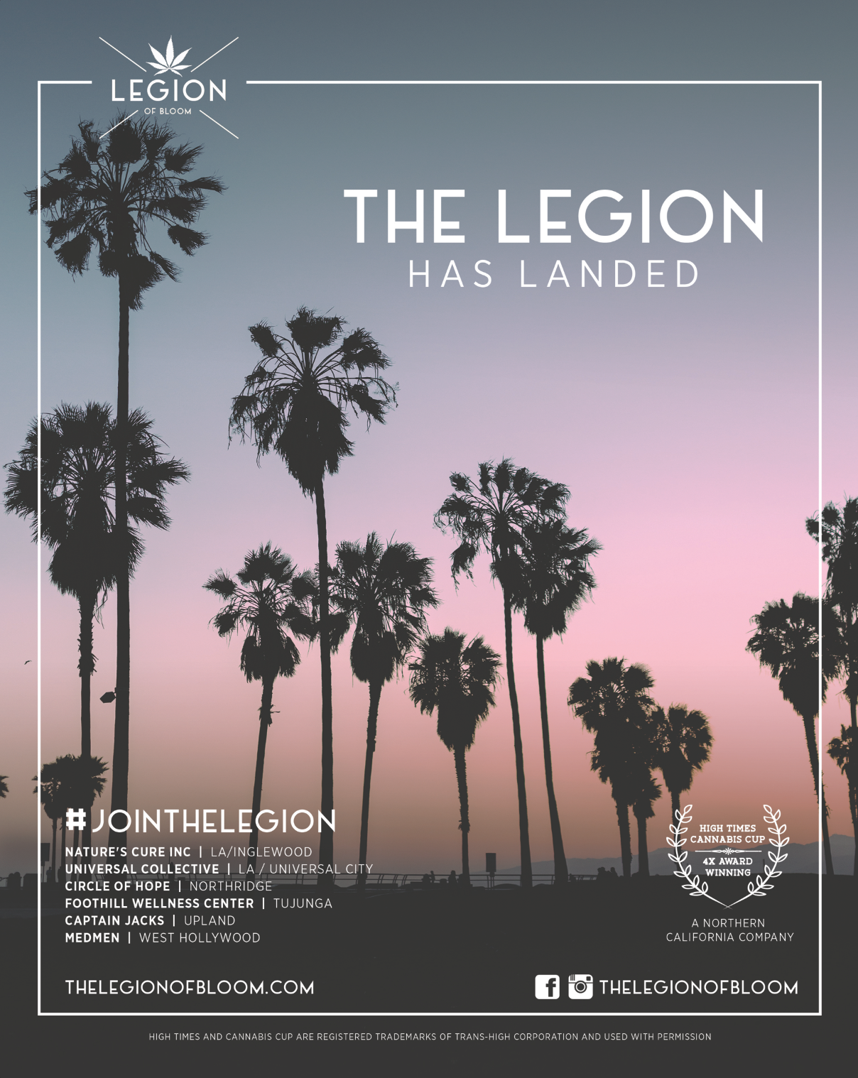 The Legion of Bloom has landed in SoCal