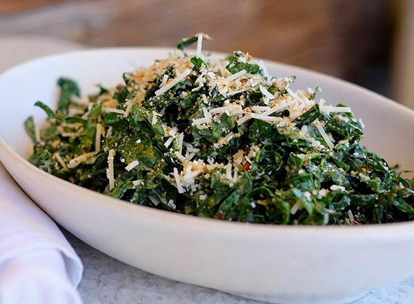 True Food Kitchen - Pizza (Try Fennel Chicken Sausage) & Kale Salad