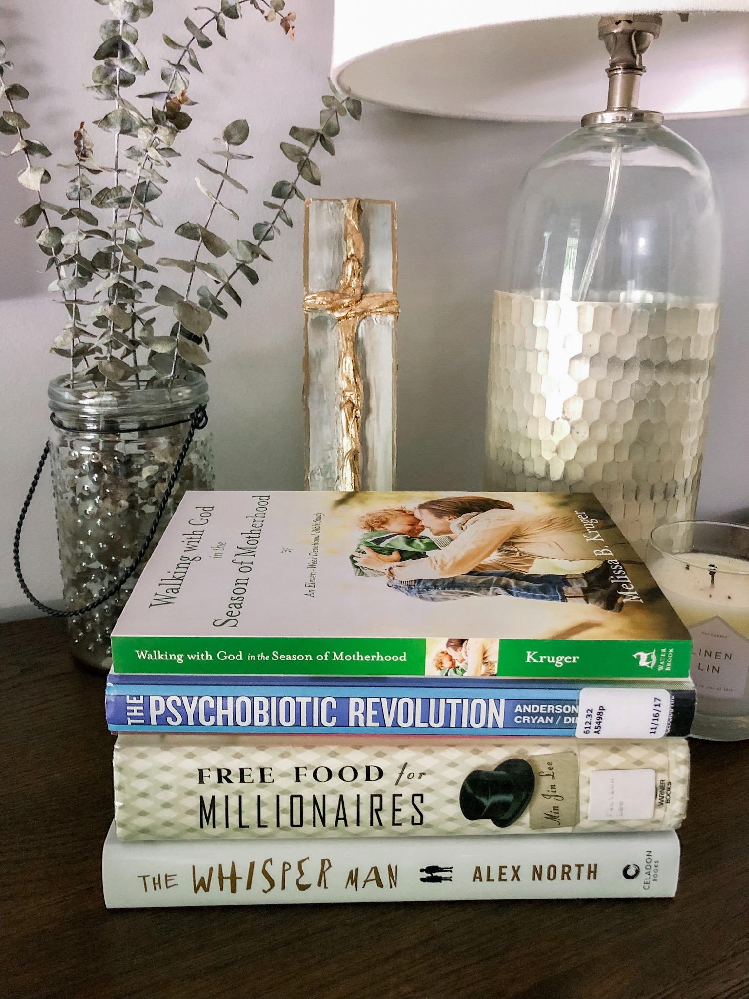 September 2019 - Walking with God in the Season of Motherhood by Melissa B. KrugerThe Psychobiotic Revolution by Scott C. AndersonFree Food for Millionaires by Min Jin LeeThe Whisper Man by Alex North