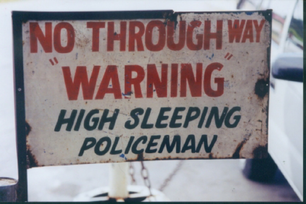 High Sleeping Policeman