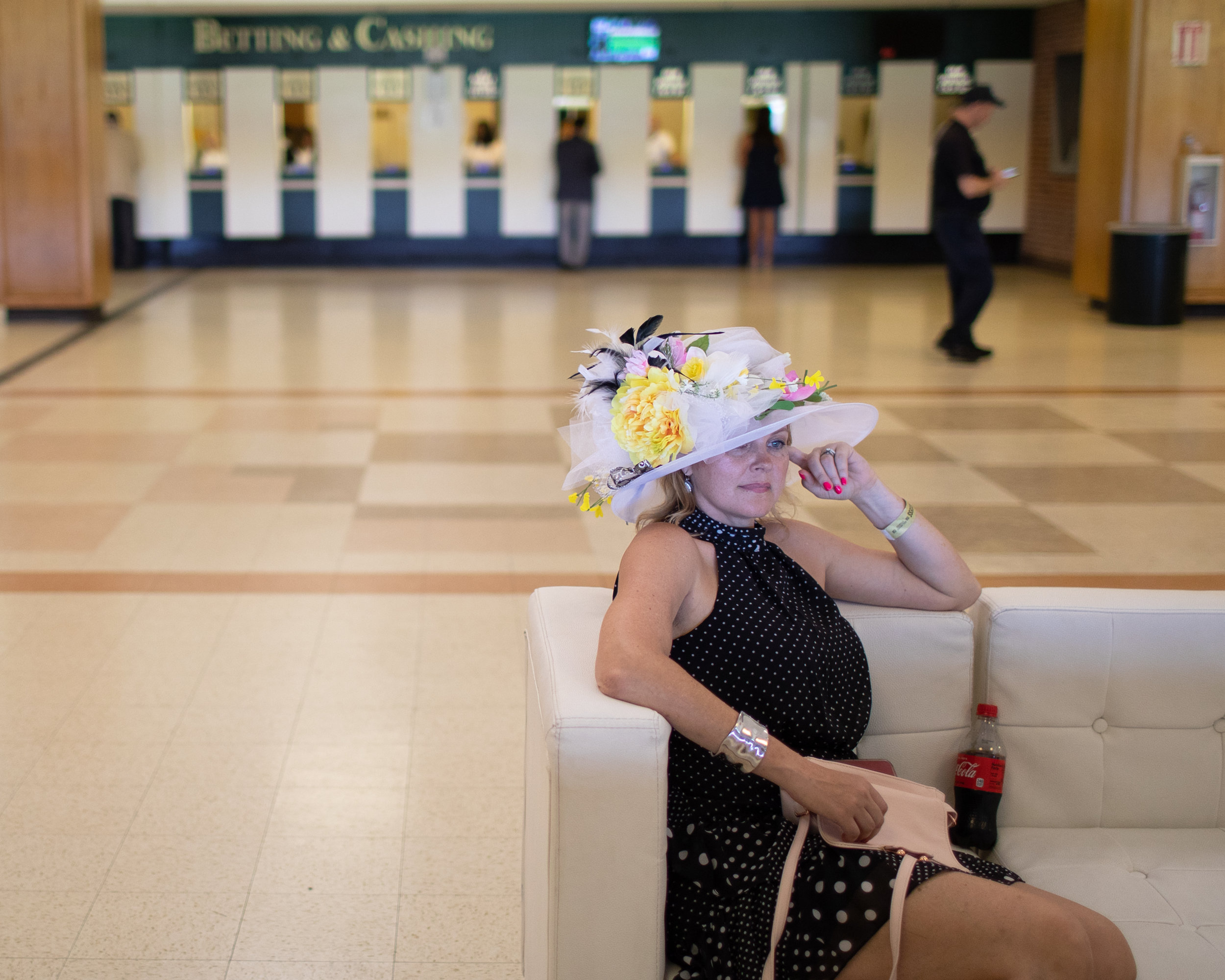 Shanyn Nelson, from Ellicott City, MD, was completing a bucket list item to see all three races of the Triple Crown. She started making her own hats with a friend this year and both are working to create a business to sell affordable race day hats.