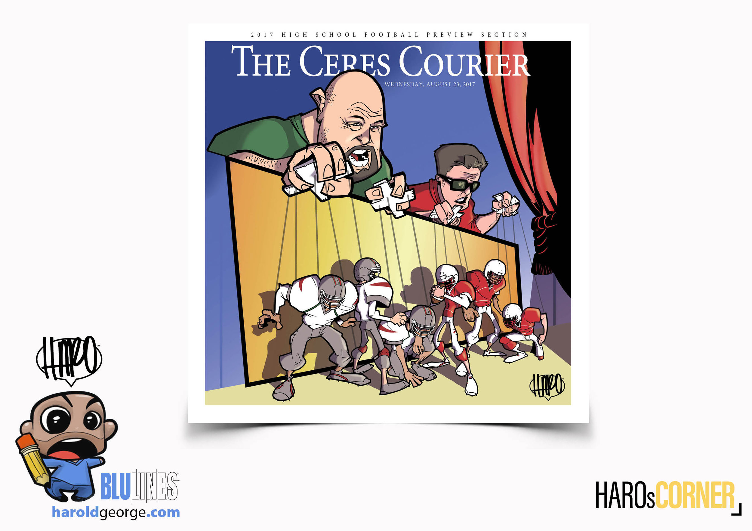 Final  Ceres Courier  cover for their annual football preview.