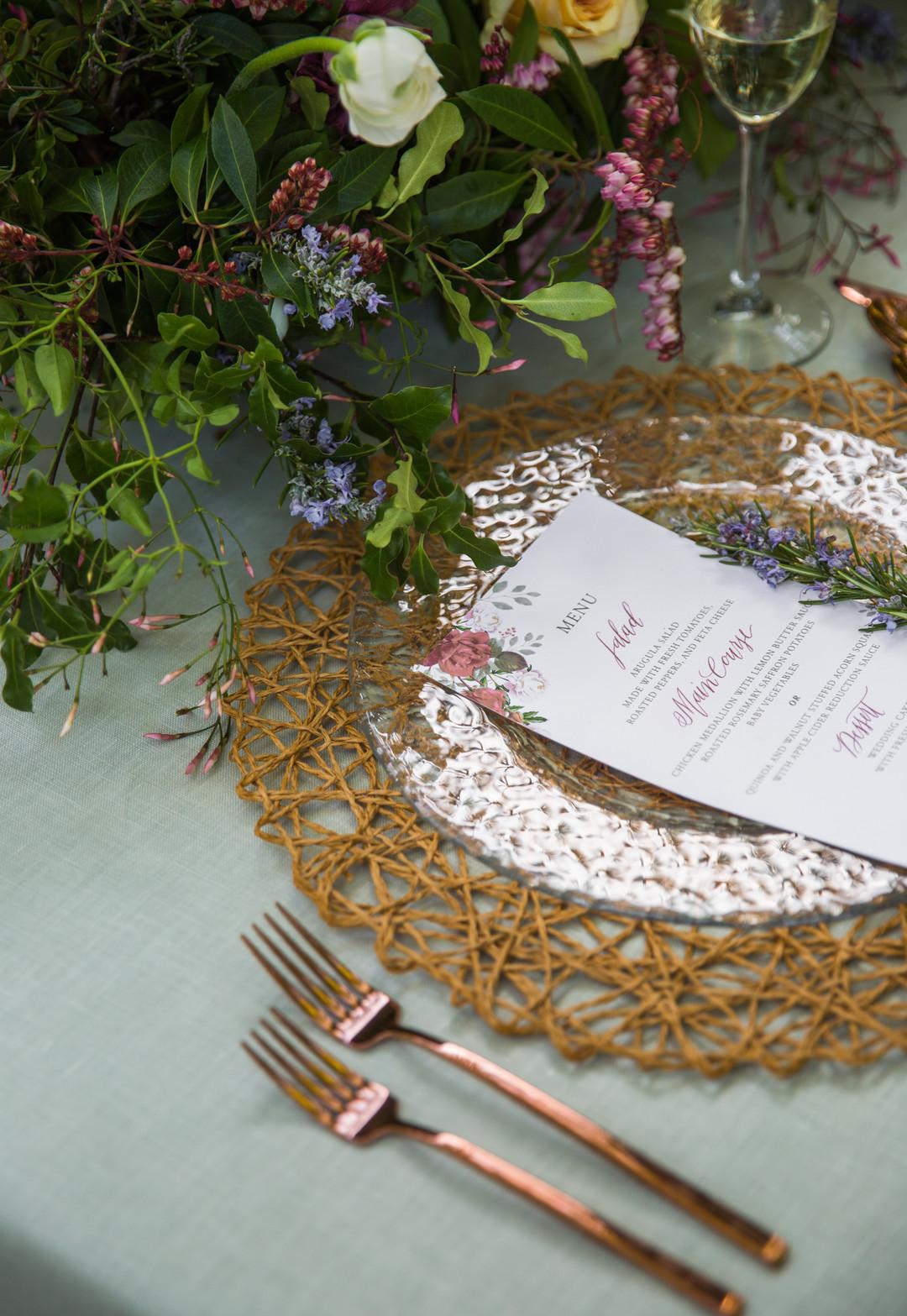 Menu Design. Photo courtesy of  Lara Onac Photography .