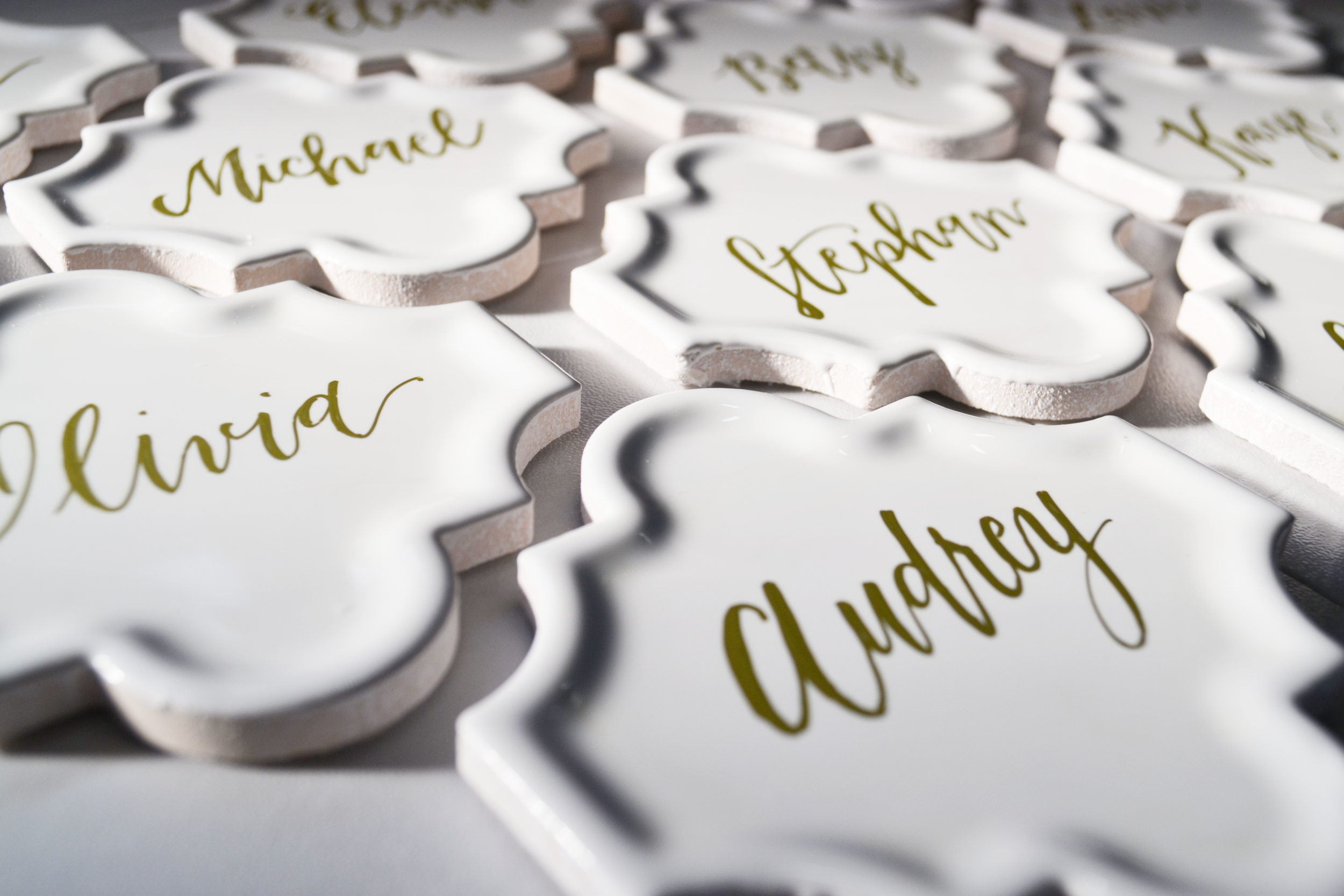 Ceramic Tile Place Cards