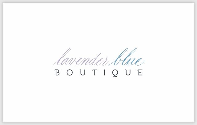 Just a little branding project for a new boutique, owned by @jeniferrenai. I can't wait to see what's in store for  Lavender Blue Boutique!  Be sure to hop on over to Facebook and give Lavender Blue Boutique's page a like so you can stay up-to-date on all things Lavender Blue.  #branding #logodesign #smallbusiness #boutique #babyclothingboutique #lavenderblue #logotype #calligraphylogo #calligraphylogotype