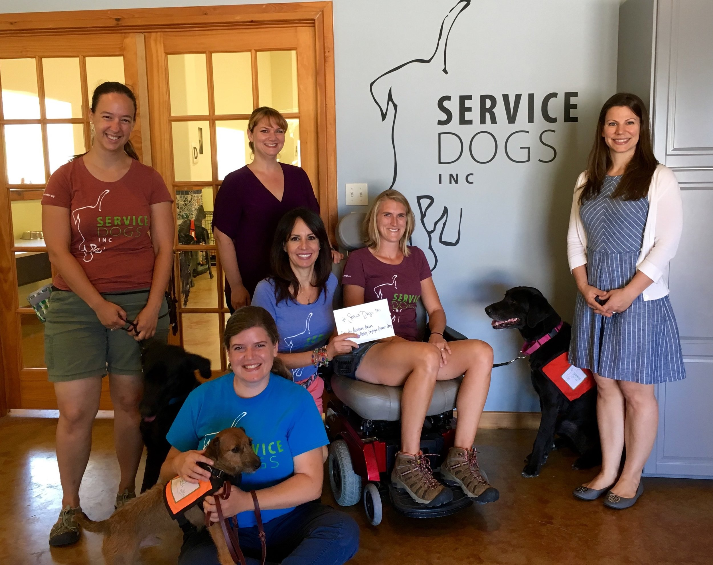 The Austin Office brought Service Dogs, Inc. into the Accenture office to provide our employees hands on insights into Service Dogs, Inc. as well as provide education and awareness about the vital service these dogs provide.