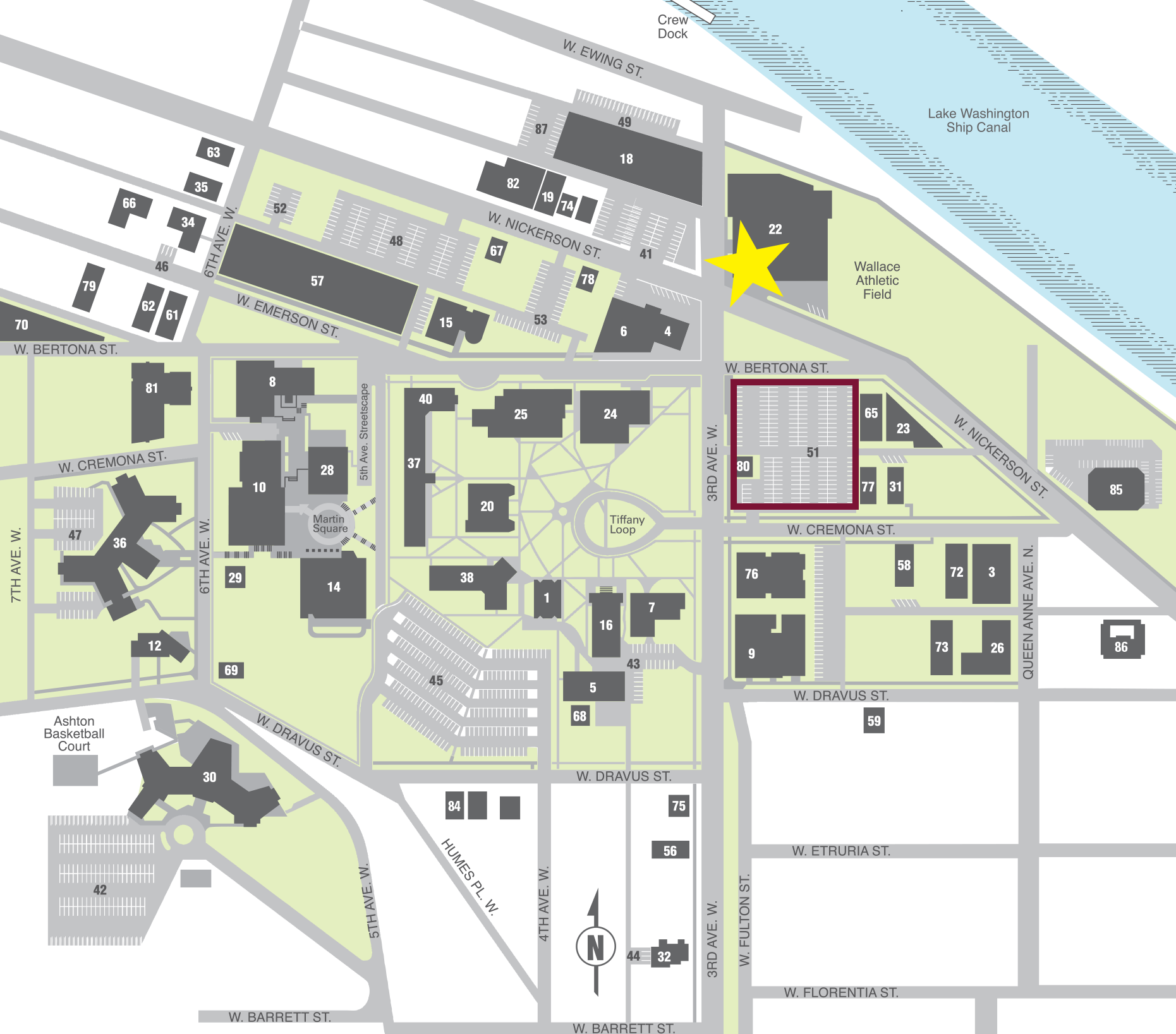 SPU Parking - Click Map to Download