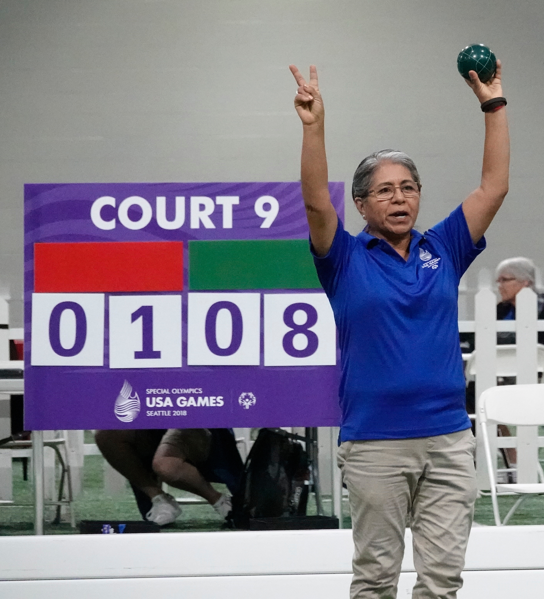 7/4/2018 Bocce Ball , (9AM-11AM) , Special Olympics USA Games, Seattle Wa.