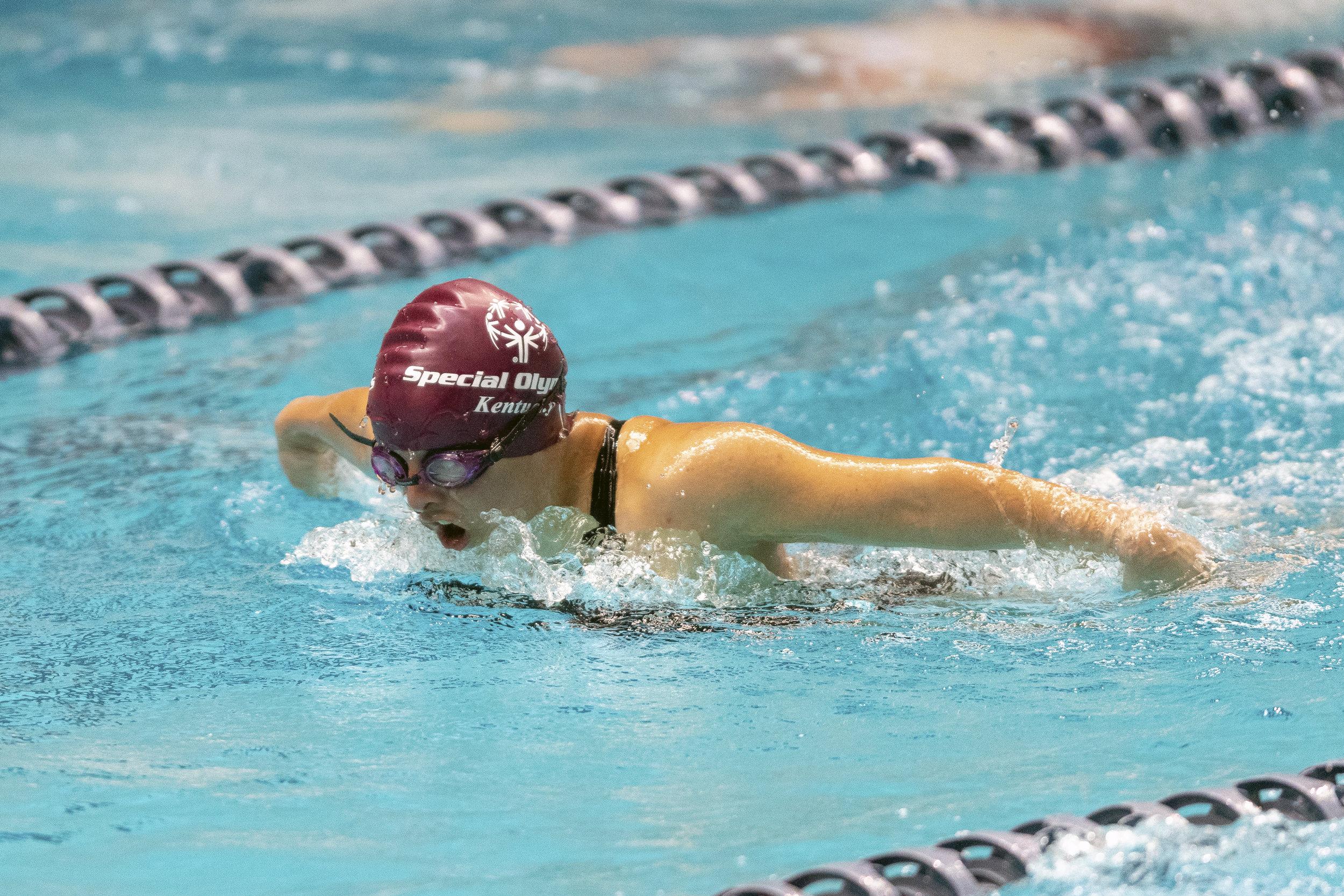 2018 USA Special Olympics Games: Swimming at the King County Aquatic Center in Federal Way, Washington.  Photo: Alika Jenner