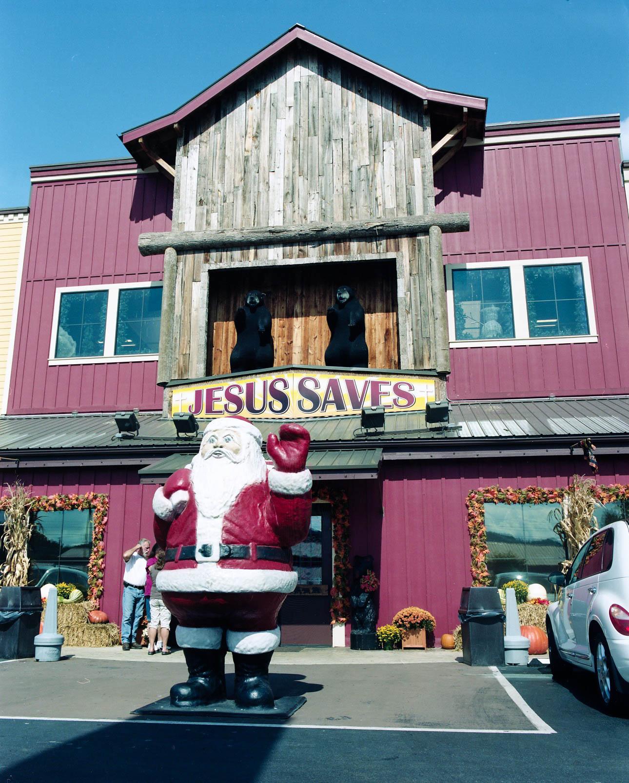 Santa Saves, Pigeon Forge, TN. 2013.