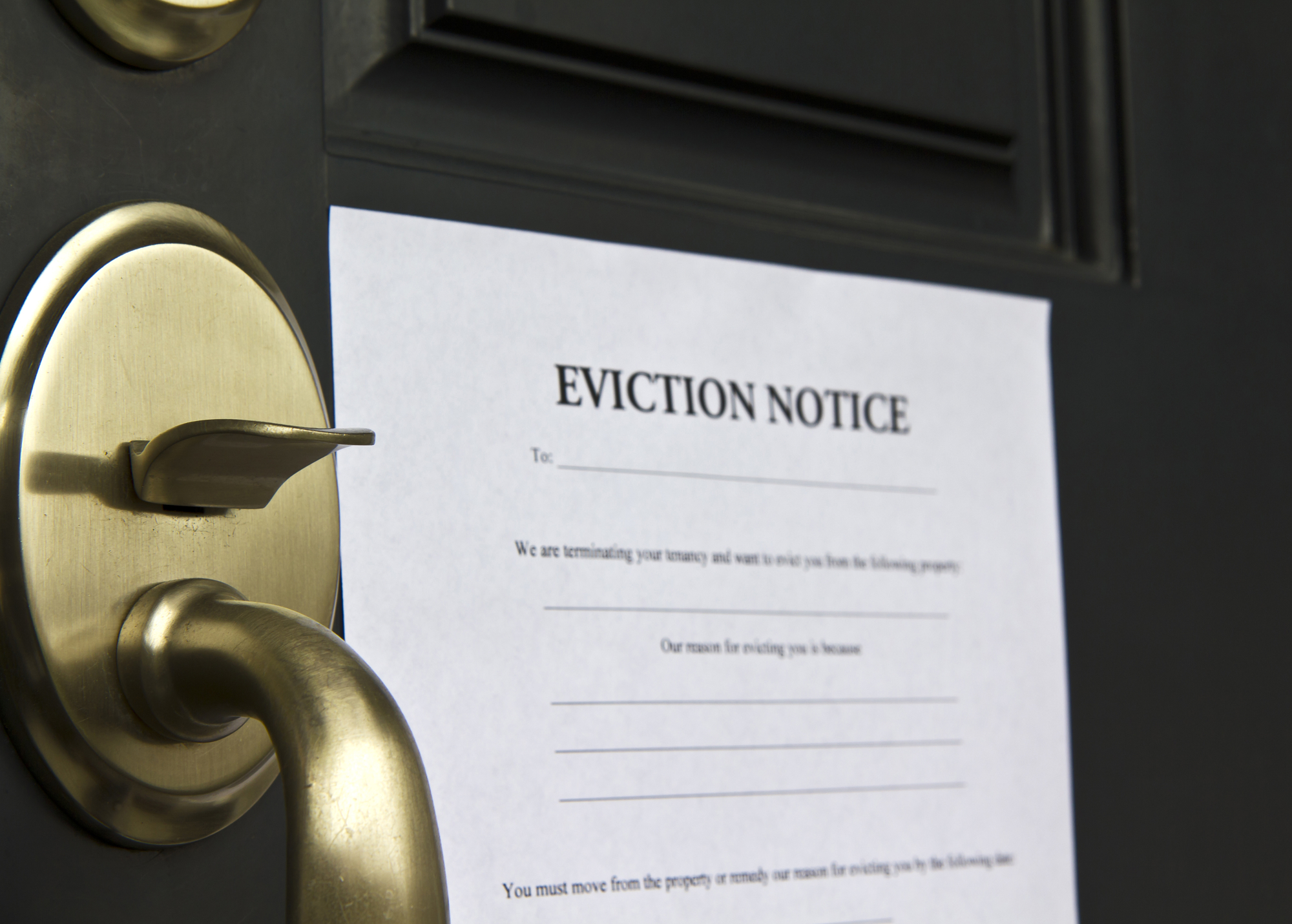 Property Manager Greenville Eviction Notice