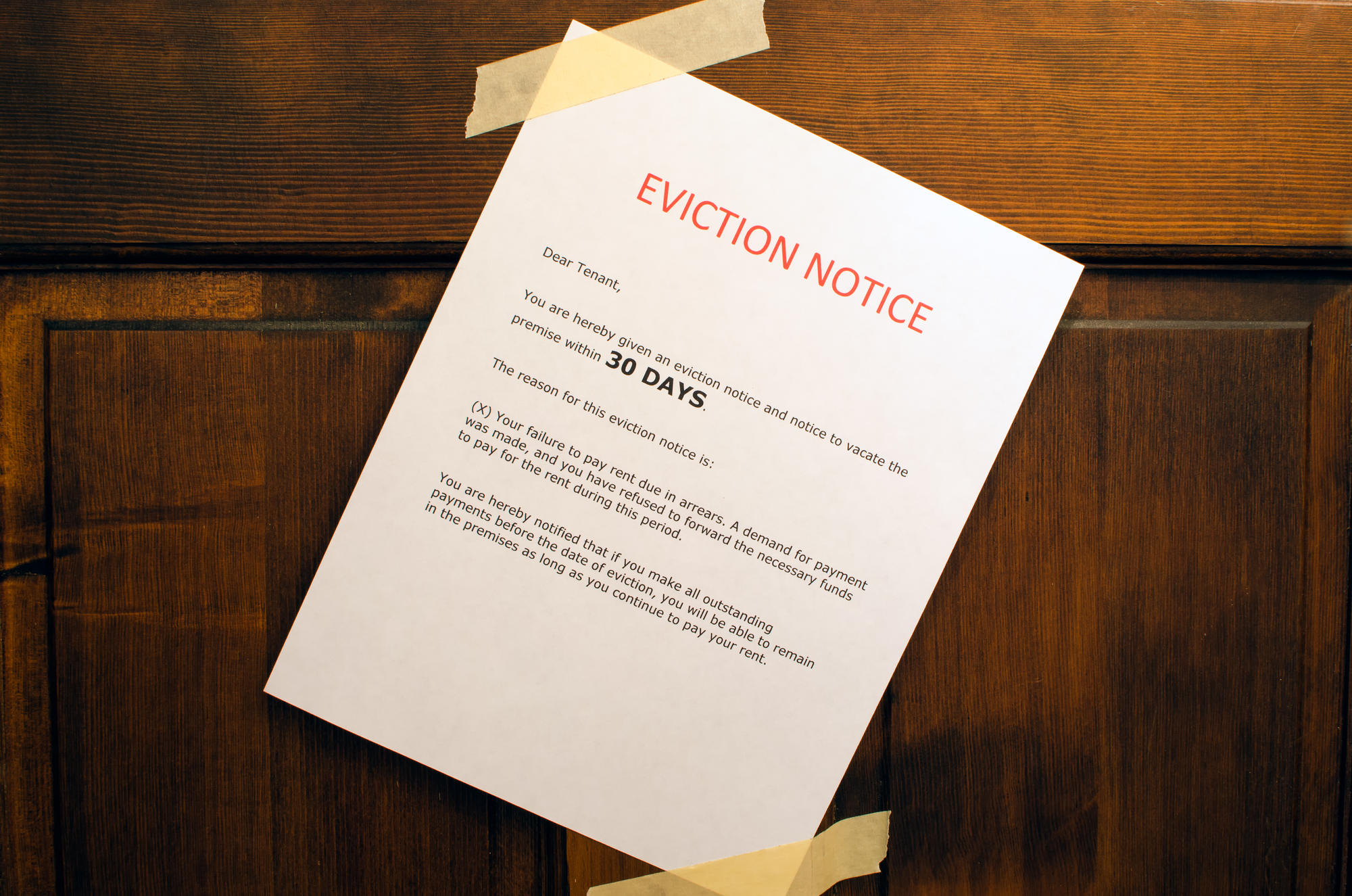 Eviction Notice On Door Greenville SC