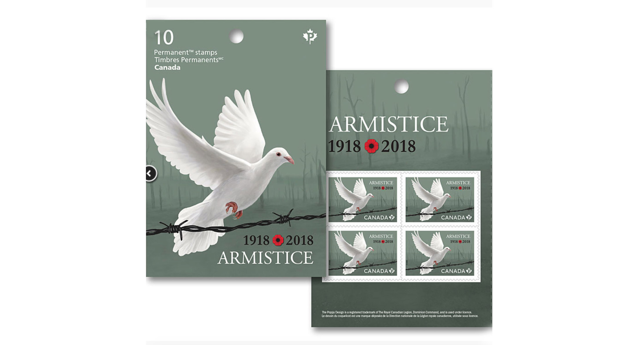 Canada Post Armistice Stamp