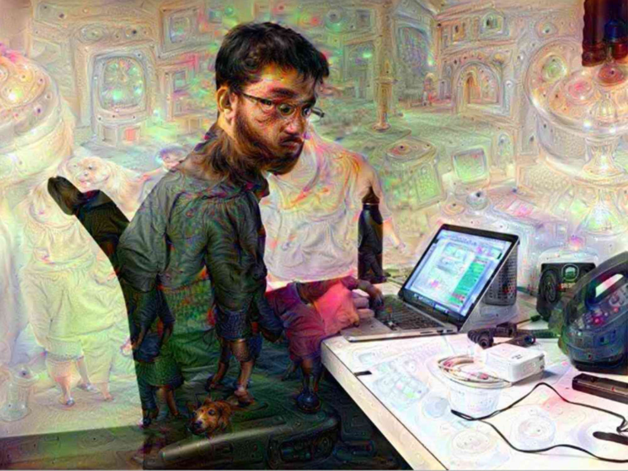 Levi Sharpe/ Popular Science  Dave Gershgorn  An image of Dave Gershgorn transformed by the Dreamify app