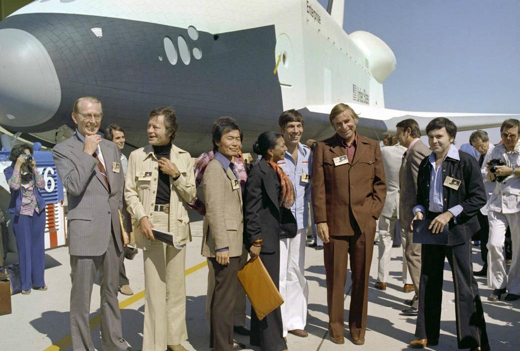 The ''Star Trek'' cast visits NASA Dryden (now Armstrong) circa 1976.-  Courtesy NASA