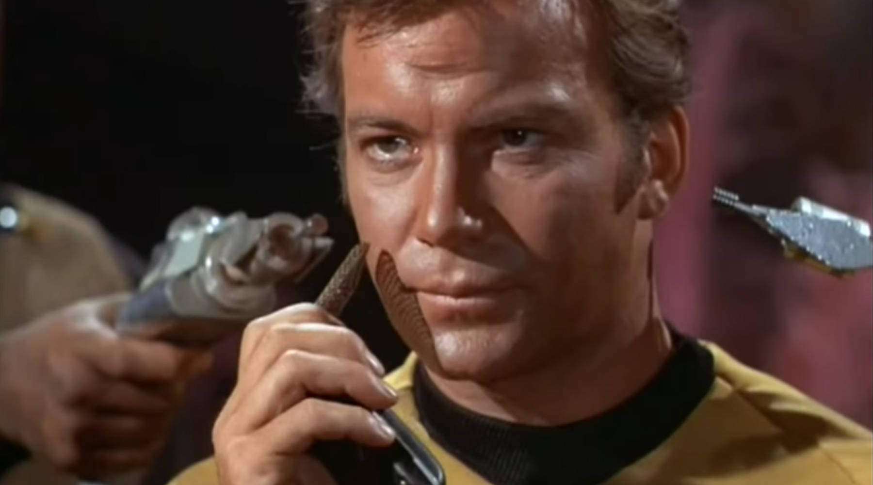 Captain Kirk tries to use his communicator.-  YouTube