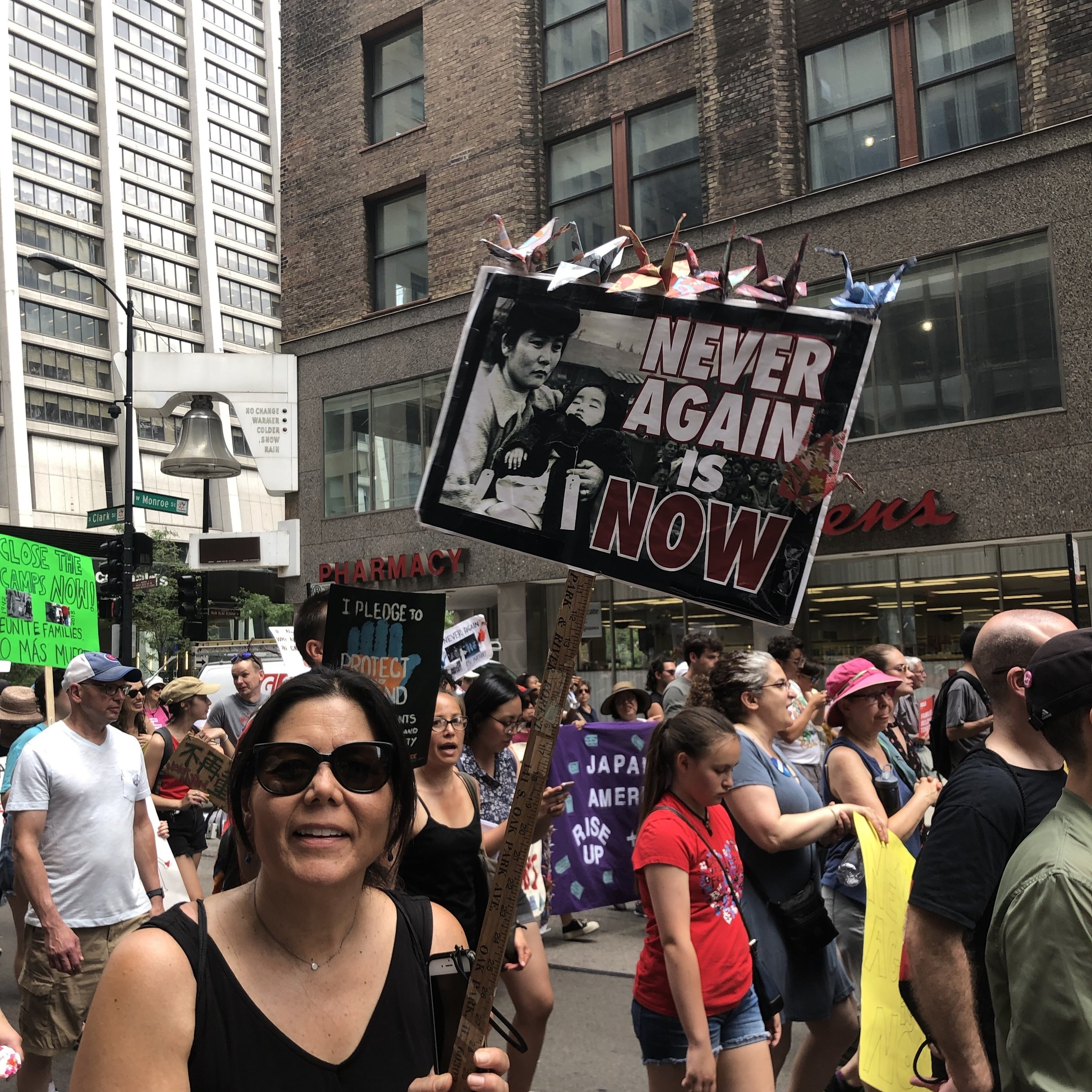 Demonstration and March on July 13, 2019 in Downtown Chicago