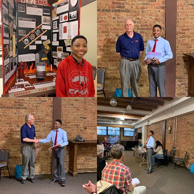 """ILHS was proud to meet Stephen last night as he explained how his uncle inspired his project """"Black Heroes On Fire"""" which won in Springfield for History Day. His project qualified for Nationals. If you can help support his trip in any way, the go fund me link is below.  https://www.gofundme.com/help-stephen-get-to-national-history-day-2019&rcid=r01-155961101365-f4d761572a8949a1&pc=ot_co_campmgmt_m"""