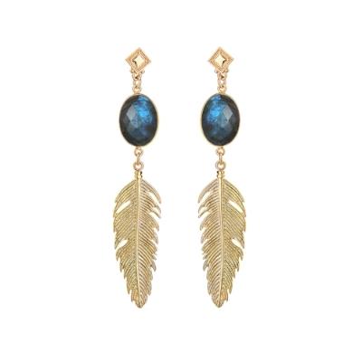 Of the Night Jewel Earrings with Labradorite