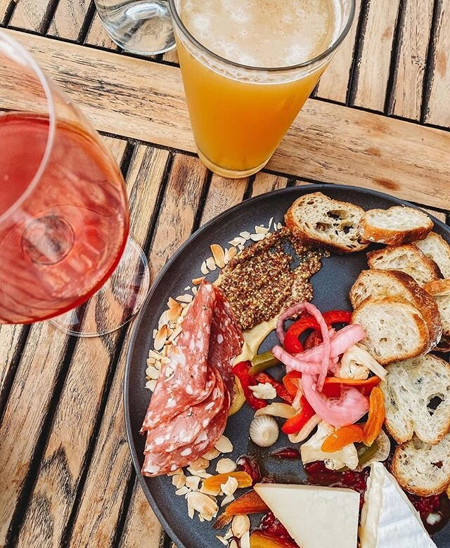 If you needed the recipe for a better Monday...this is it: rosé + beer + charcuterie ✨ . 📸 by @maddy.eccles . #WeAreOpen #SocialDistanceDining #OpenForTakeout #CurbsidePickUp #exploremidtown #sacramento365 #sacramentofoodies #sacfarm2fork #vegansacramento
