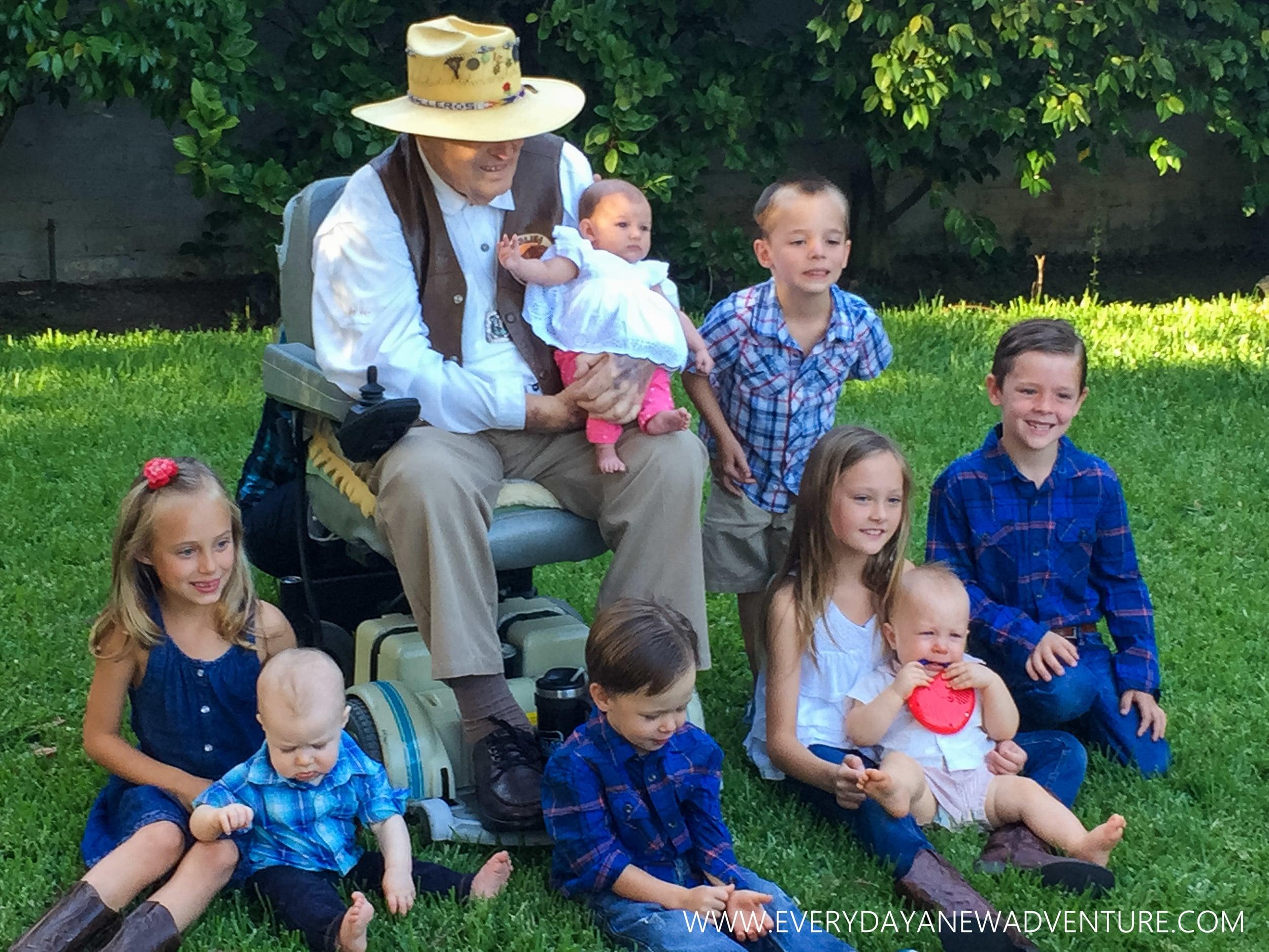 Gubba and his great-grandchildren!