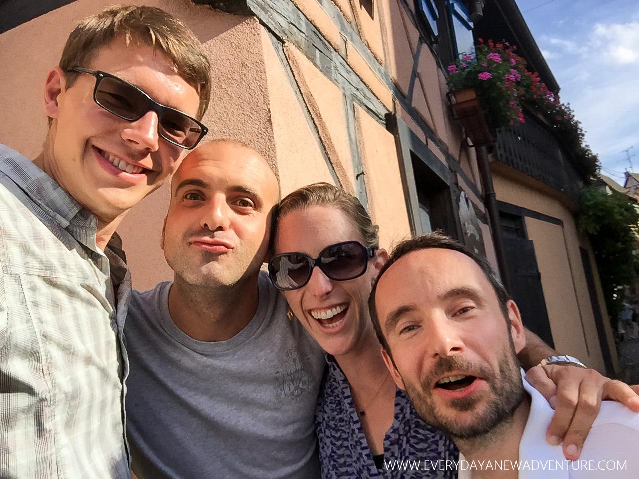 Jake, Umberto, me, and Alex