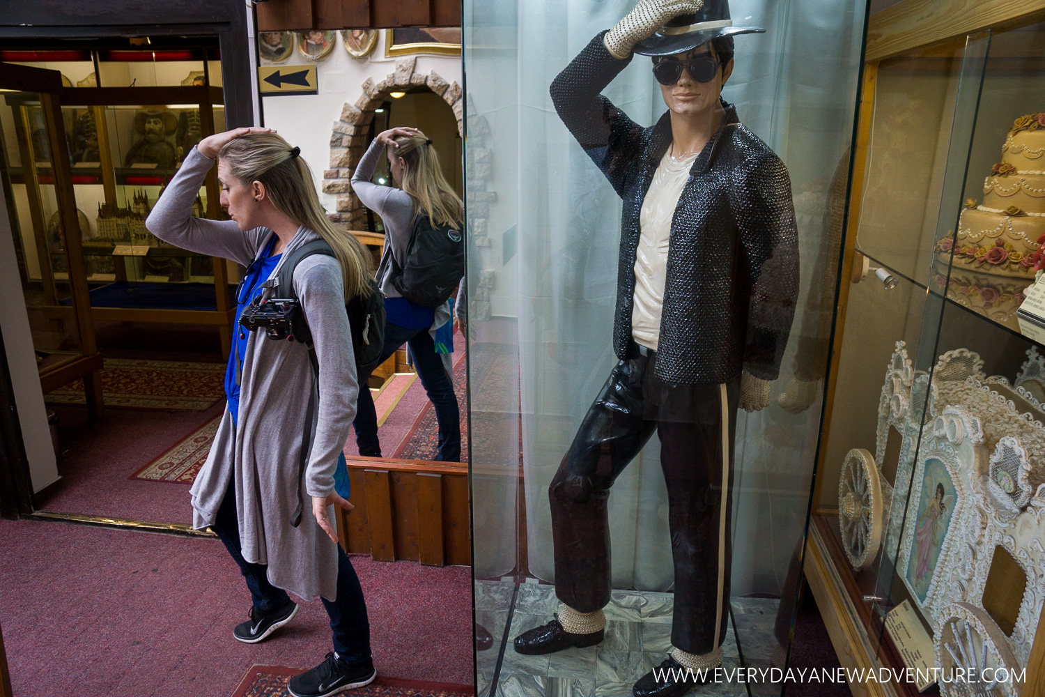 Having fun with MJ at the Marzipan Museum