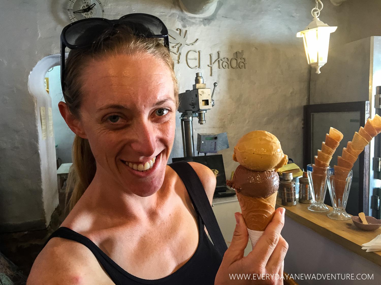 Delicious ice cream at El Hada.