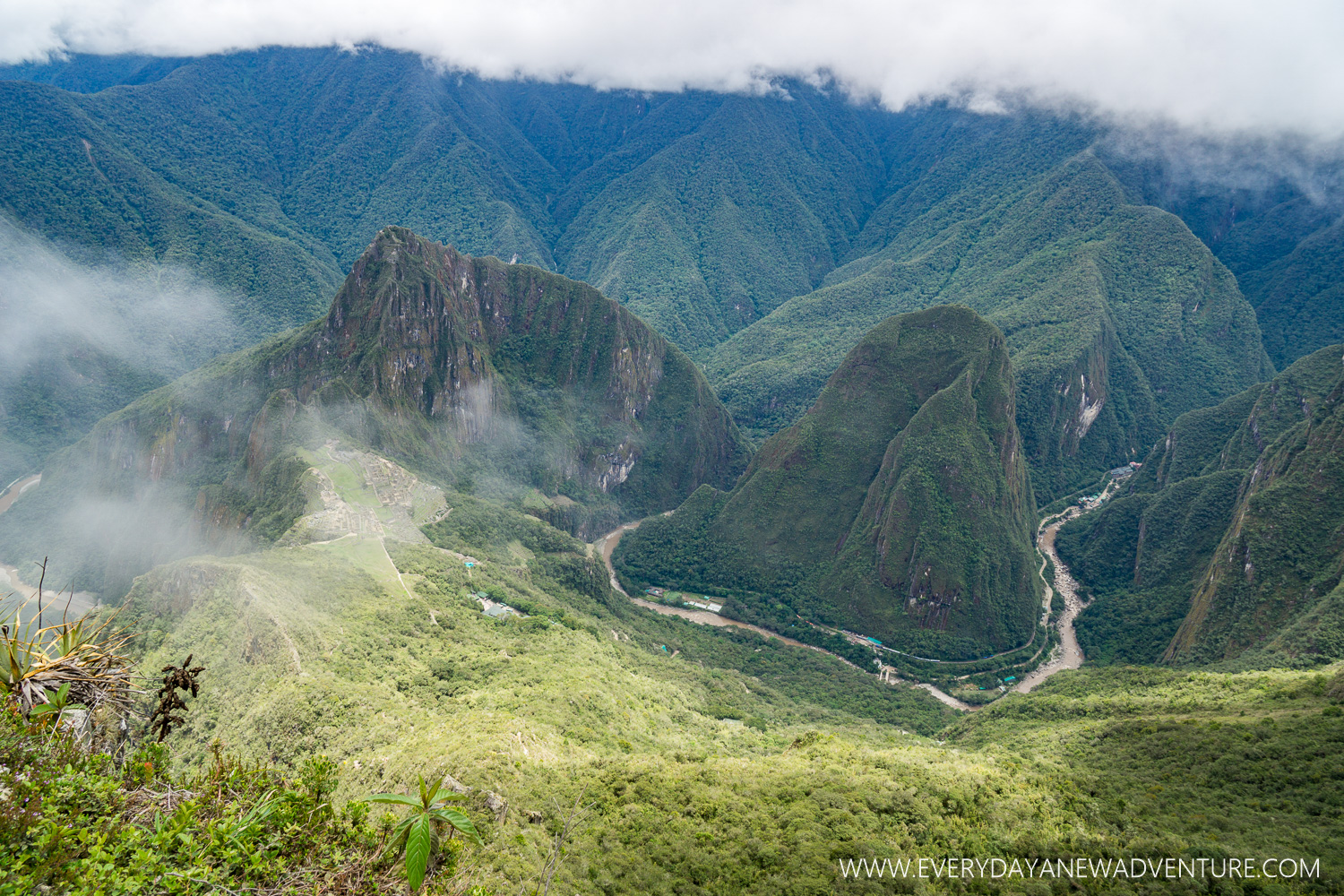 The view from the top of Machu Picchu Mountain.