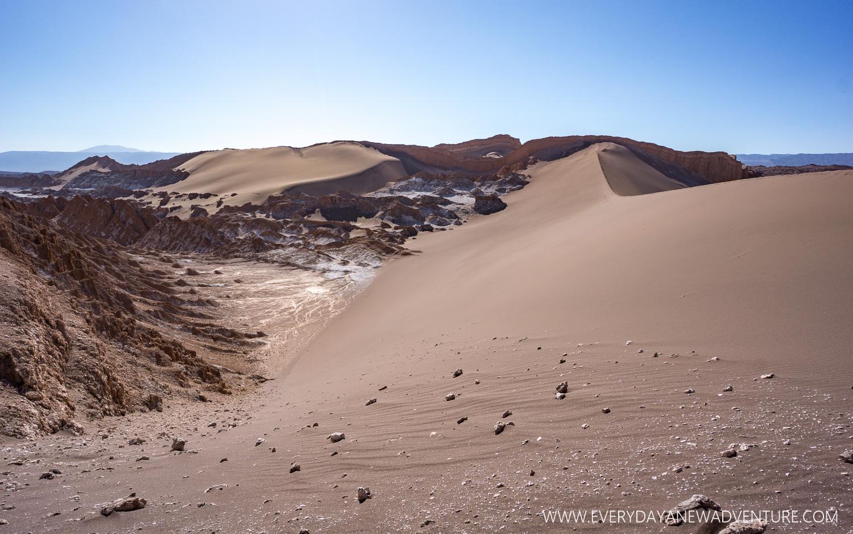 The sand dunes of La Valle de la Luna.