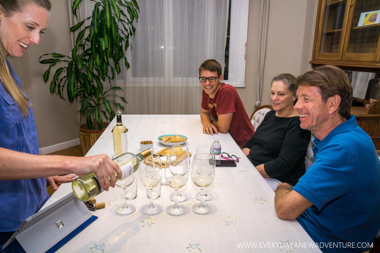 Wine class, led by Noelle!