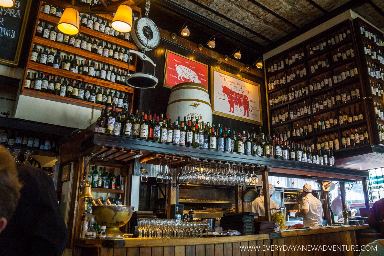 Inside Don Julio's in Palermo Soho.