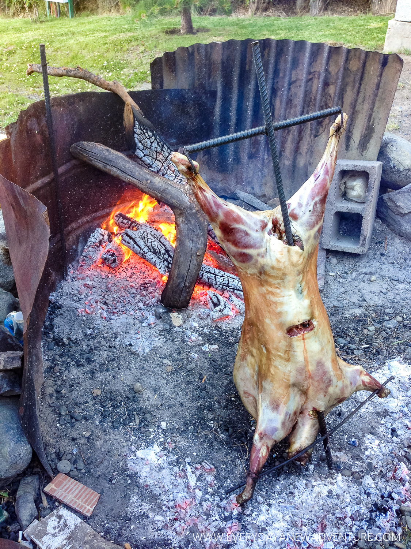 Christmas Eve dinner, roast Patagonian lamb!