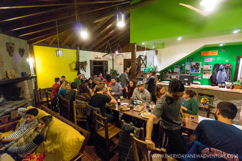 Christmas Eve dinner at Hostel I Keu Ken.