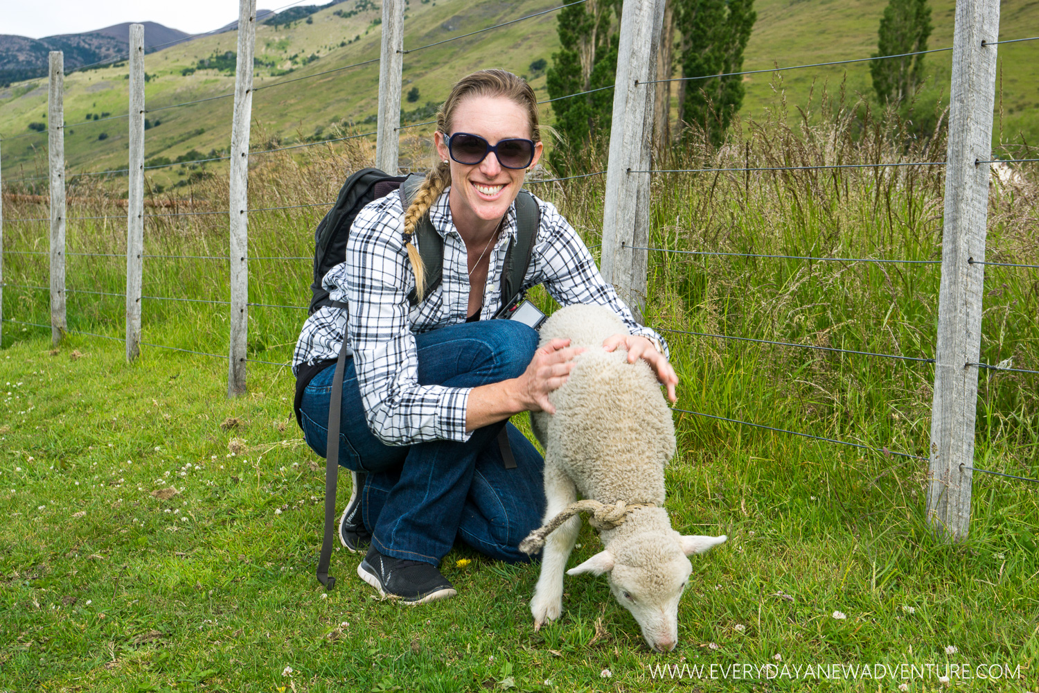 This orphaned baby lamb was found by one of the gauchos who bottle feeds her. She follows him around like a puppy!