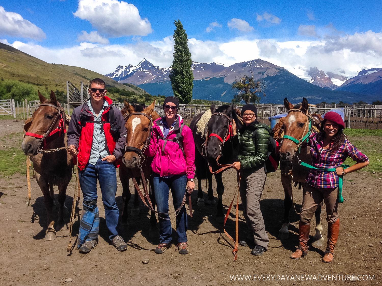 Back at the estancia!Chupatin, Jake, Gringo, Noelle, Lovison, Alexandra, Polenta, & Jackie.