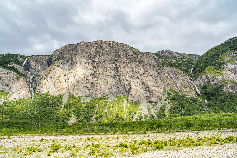 The glacier canyon looked like Yosemite.