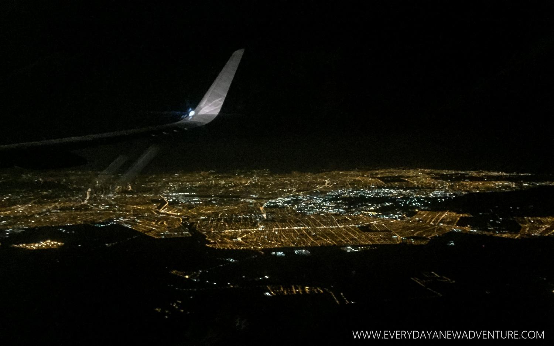 Our descent into Santiago at 4am.