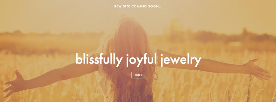Blissfully Joyful Jewelry Website