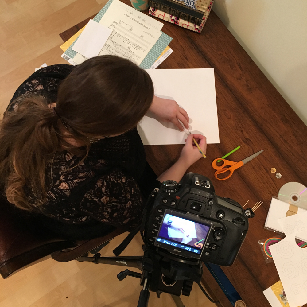 Angela set up the close up shots to show the process.