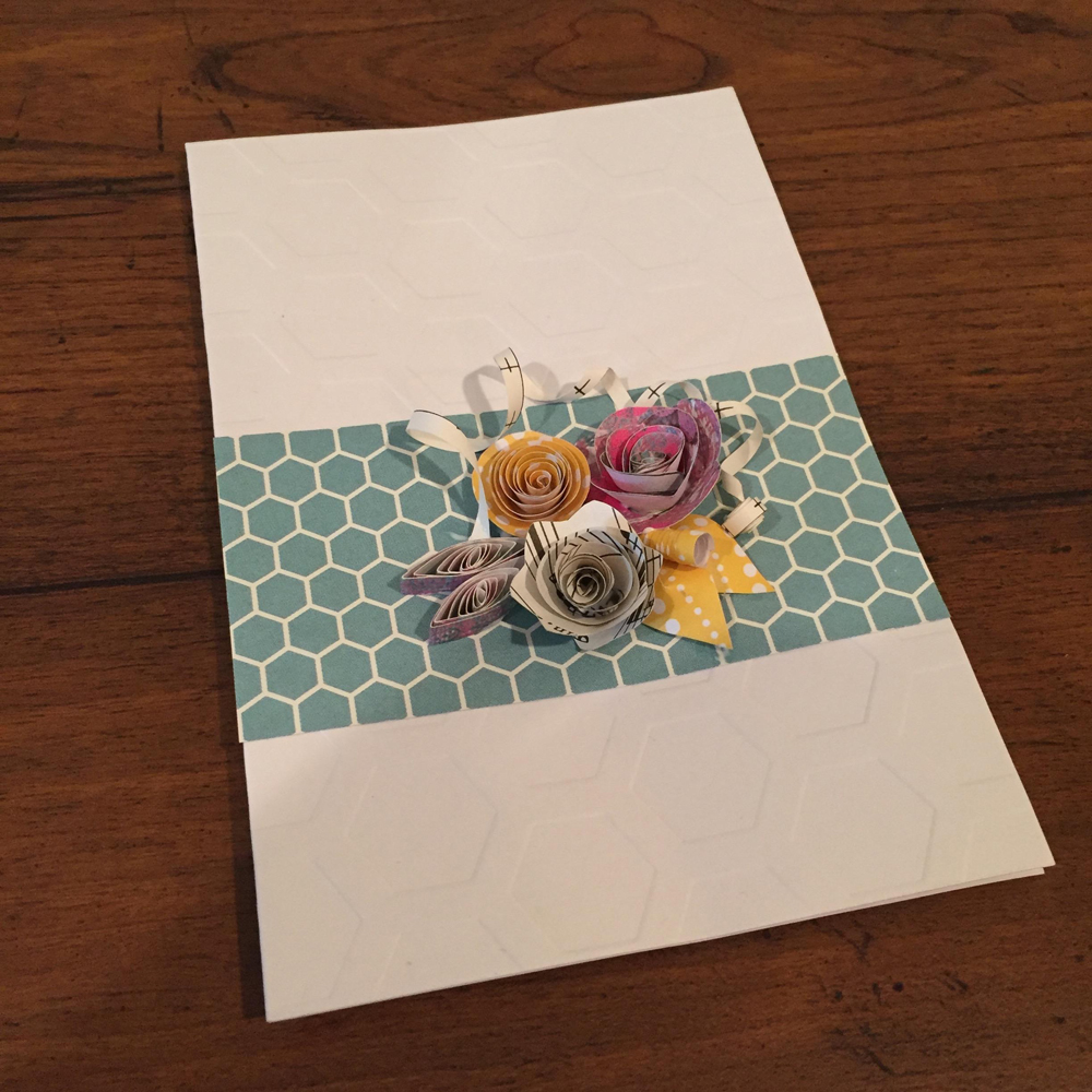 The final product was a beautiful handmade card you could give to family and friends.
