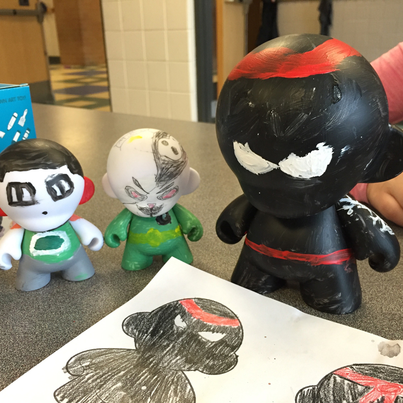 Some students created a larger Munny by registering for the class in advance. But they all turned out awesome!