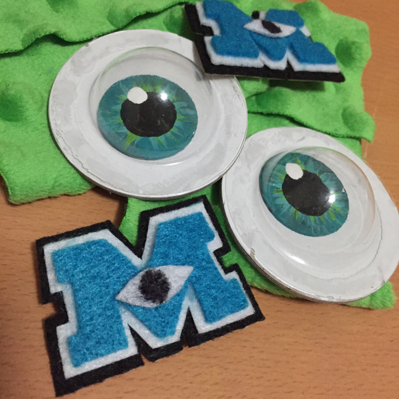 The finished googly eyes and the Monster's Inc logo were my favorite extra touches to the shoes.